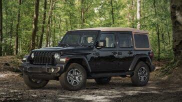 Jeep Wrangler Black & Tan 2020