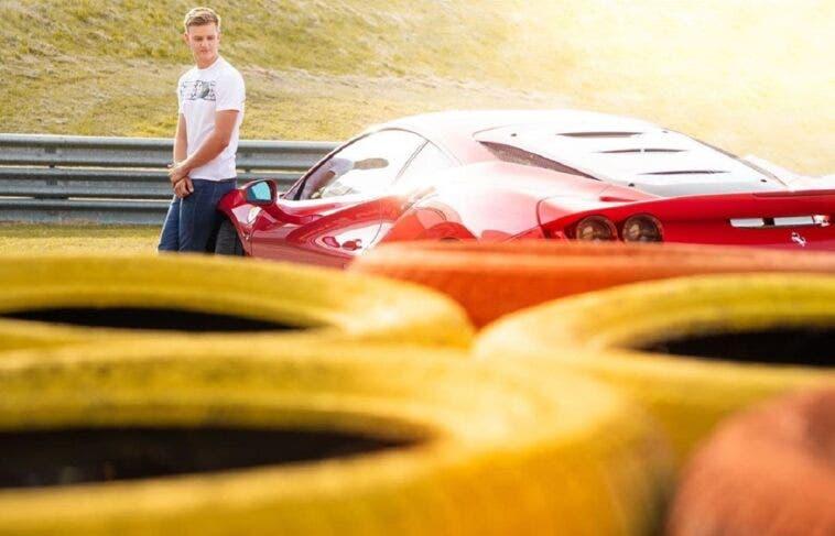 Mick Schumacher Ferrari F8 Tributo