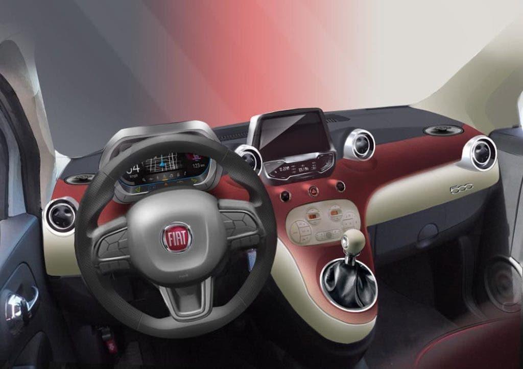 Nuova Fiat 500 interni render
