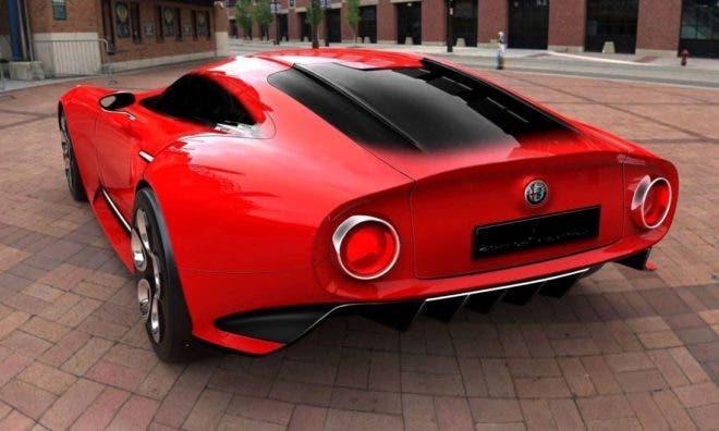 Alfa Romeo 8C render