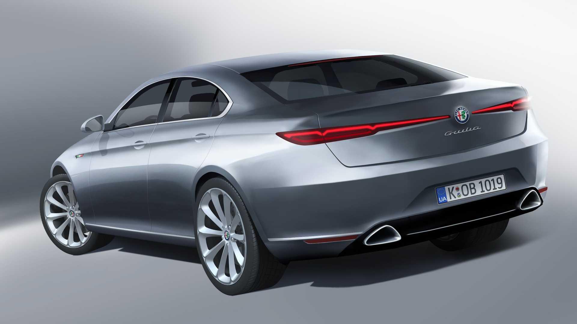 Alfa Romeo Giulia nuova generazione render