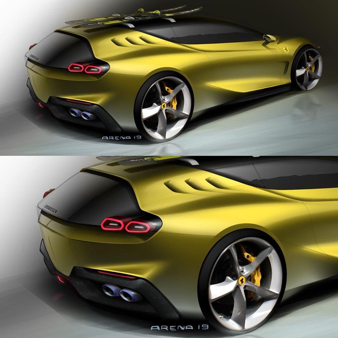 Ferrari GTC4Lusso successore render