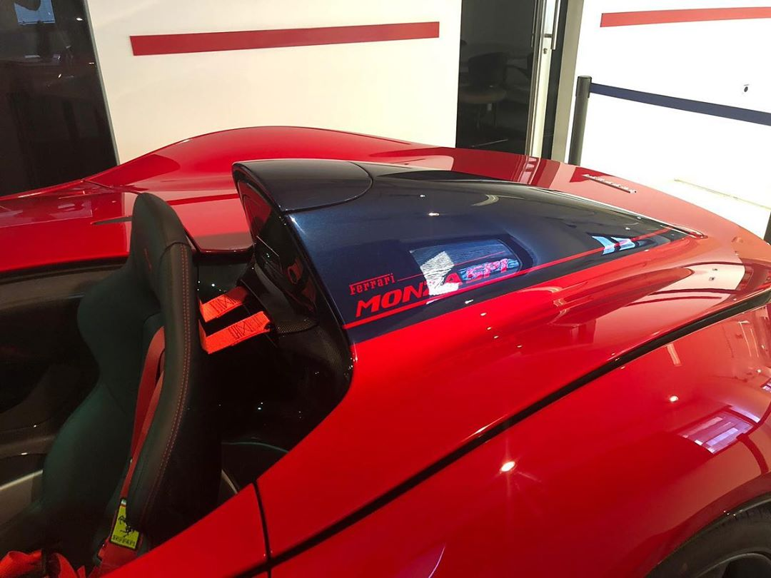 Ferrari Monza SP1 rossa nera
