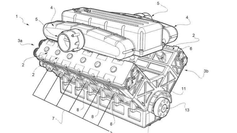 Ferrari nuovo motore V12 brevetto
