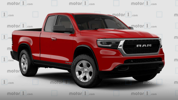 Ram pick-up medie dimensioni render