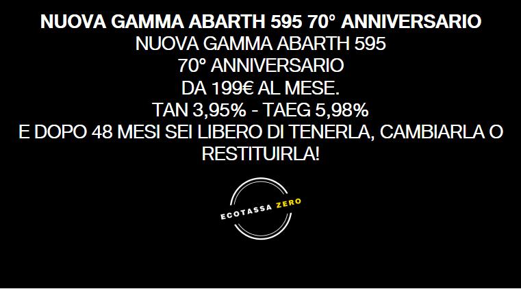 Abarth 595 70° Anniversario promozione