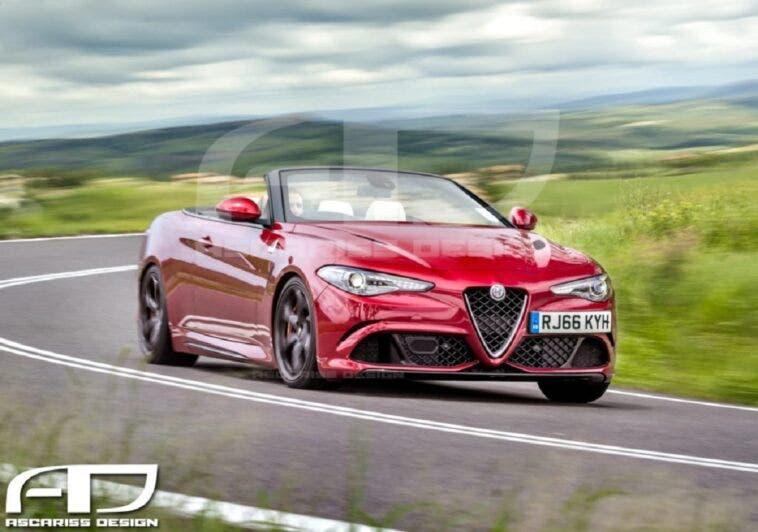 Alfa Romeo Giulia Cabrio Ascariss Design render