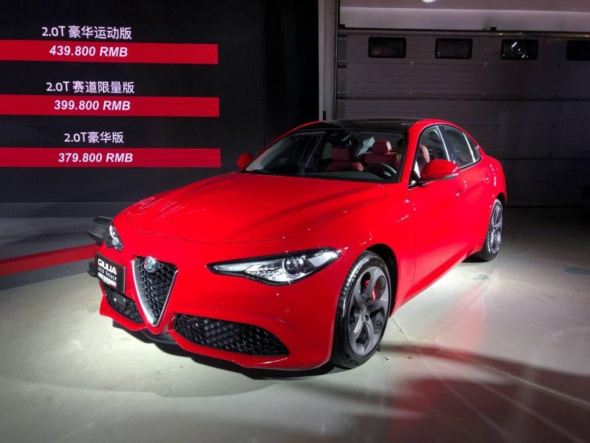 Alfa Romeo Giulia MY 2020 cina