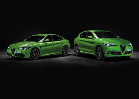 Alfa Romeo Giulia e Stelvio Quadrifoglio verde