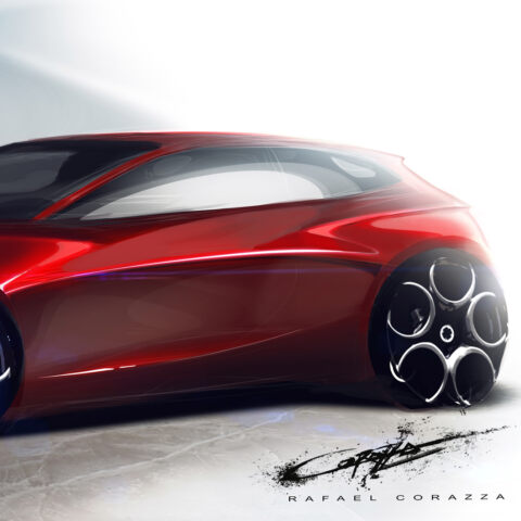 Alfa Romeo berlina render