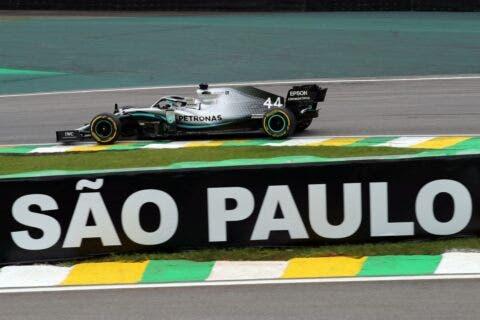 Lewis Hamilton in Brasile