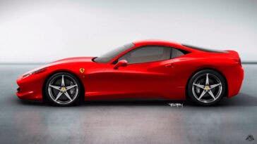 Ferrari 458 motore anteriore render