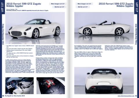 Ferrari GTZ Zagato Nibbio Spyder asta