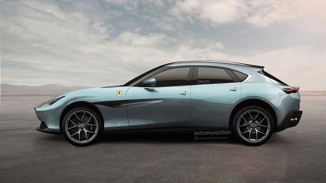 Ferrari Purosangue render Autoevolution
