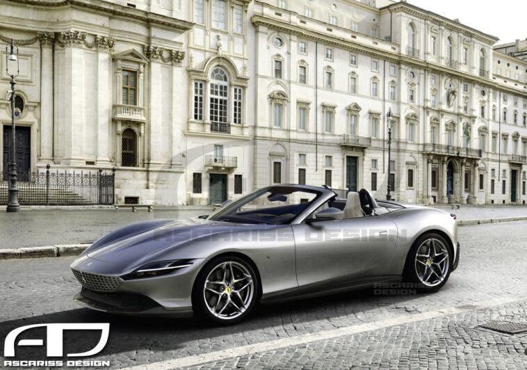 Ferrari Roma Spider render