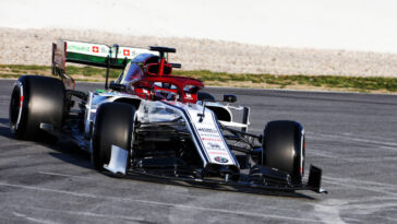 Kimi Raikkonen su Alfa Romeo Racing