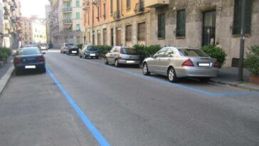 Milano strisce blu