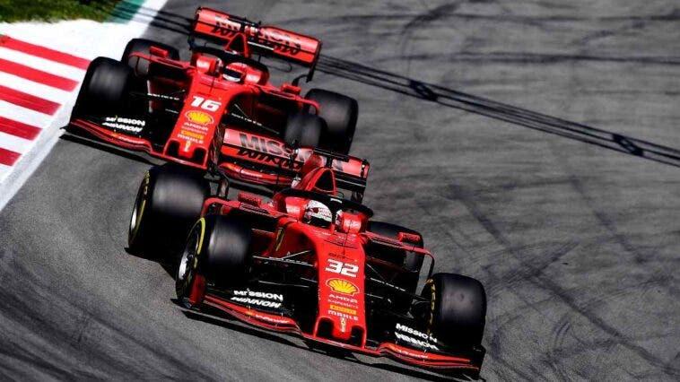 Antonio Fuoco e Charles Leclerc sulle monoposto Ferrari