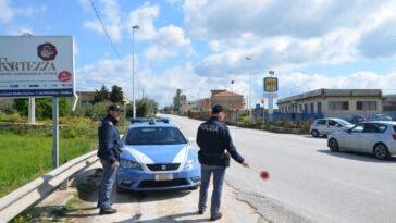 Posto di blocco polizia stradale