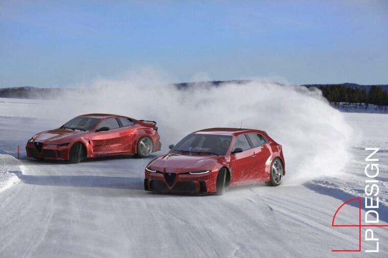 Alfa Romeo GTV e Giulietta Concept LP Design render