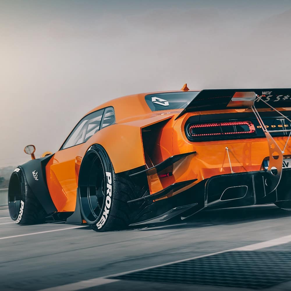 Dodge Challenger SRT Hellcat widebody render