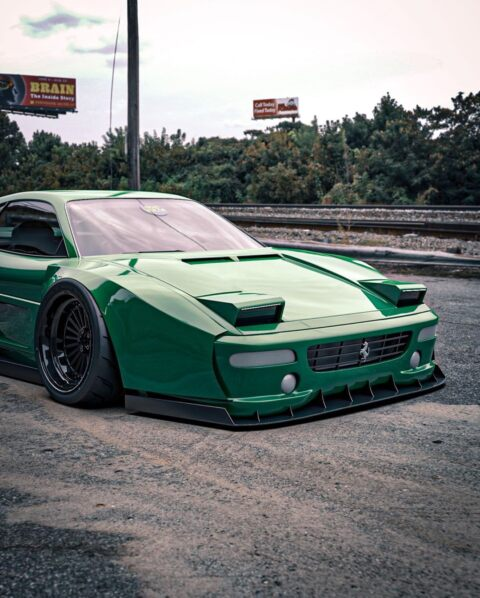 Ferrari F355 verde widebody
