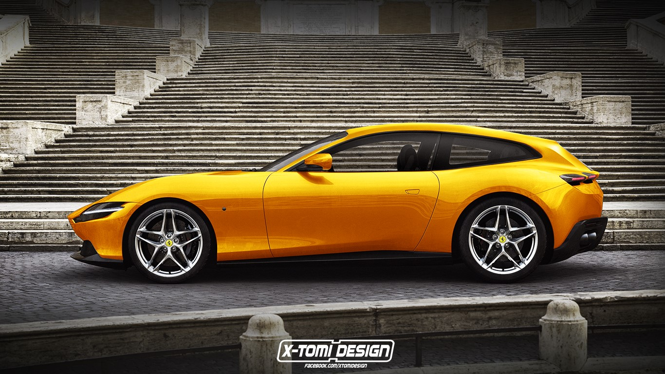 Ferrari Roma Shooting Brake render