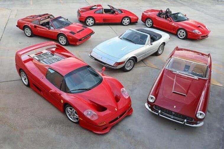 Ferrari sei convertibili asta