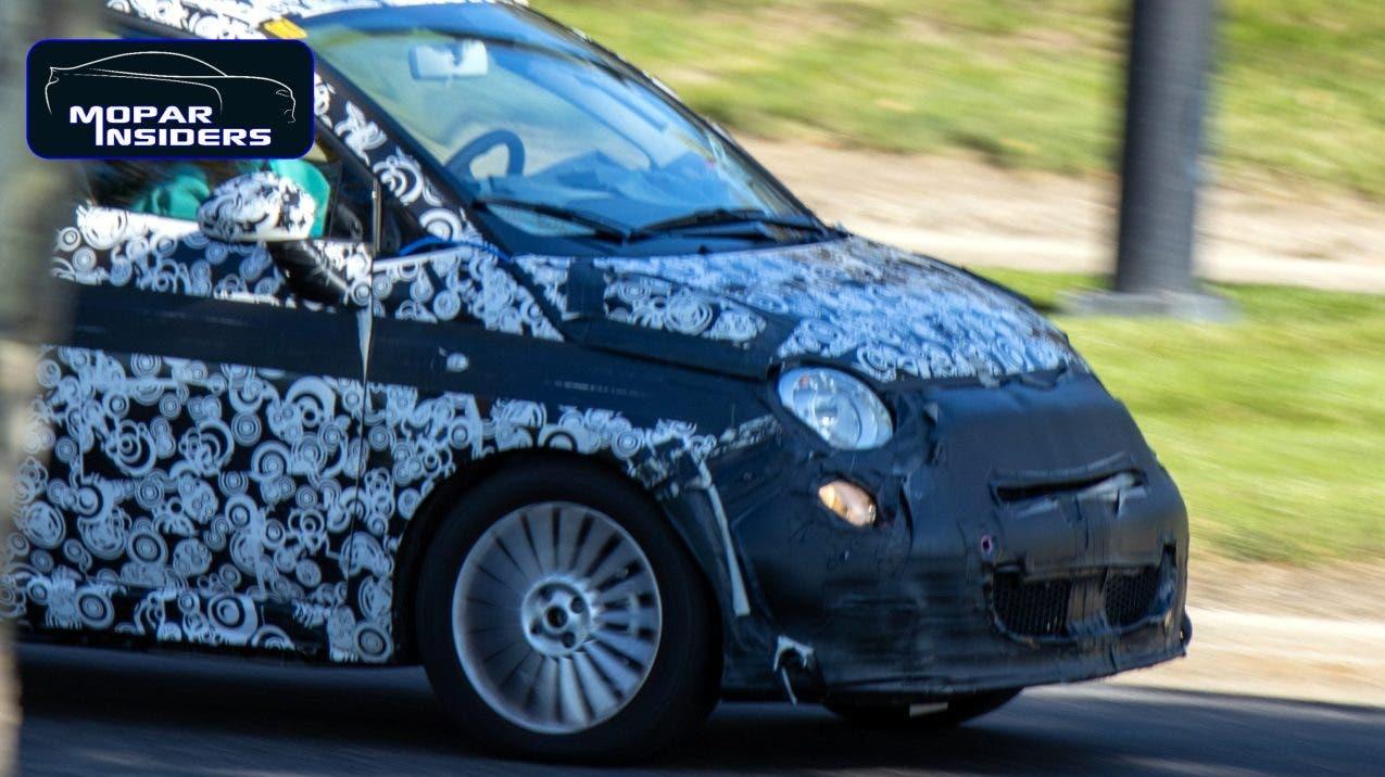 Fiat 500 elettrica 2021 foto spia