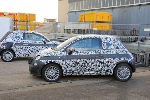 Fiat 500e 2021 prototipi foto spia