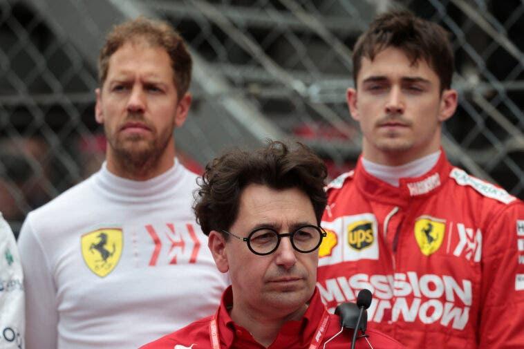 Mattia Binotto, Vettel e Leclerc
