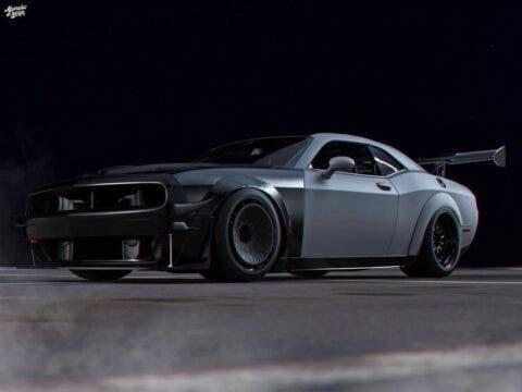 Dodge Challenger Hellcat pista Abimelec Design