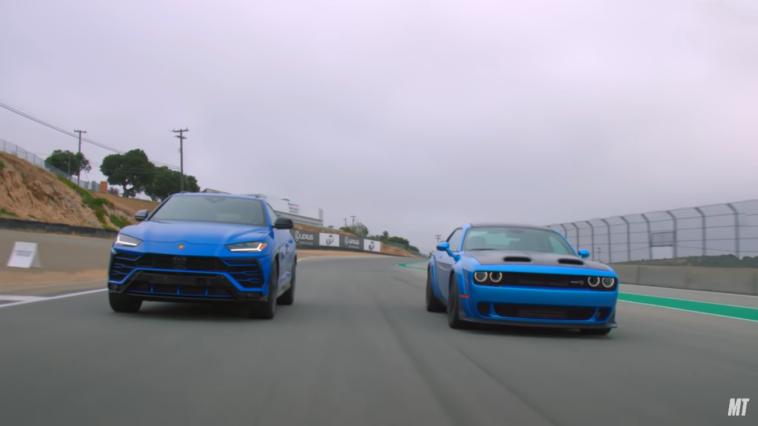 Dodge Challenger SRT Hellcat Redeye vs Lamborghini Urus MotorTrend