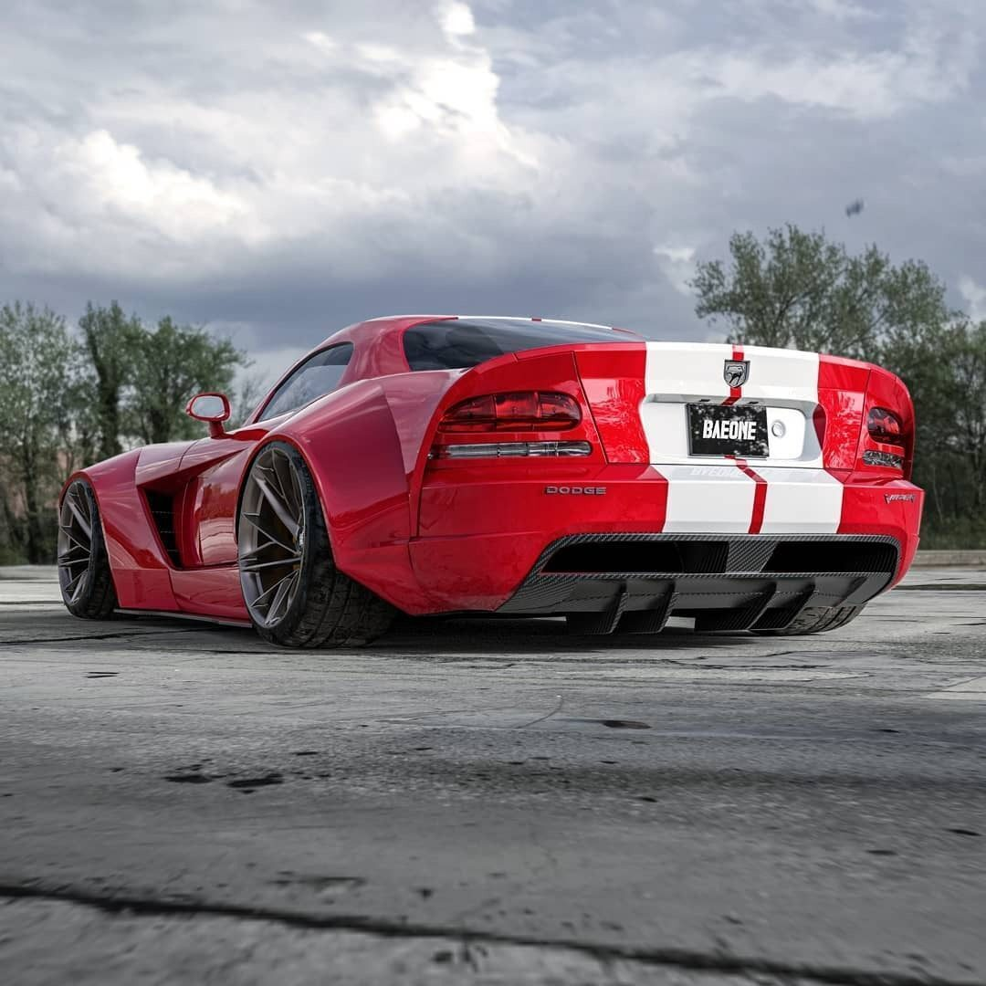 Dodge Viper widebody render