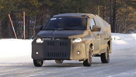 Fiat Strada 2021 neve foto spia