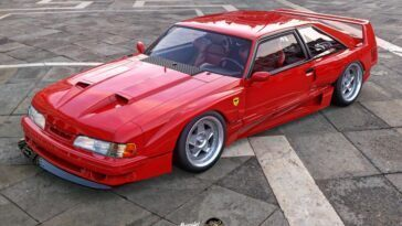 Ford Mustang Foxbody Ferrari F40 Abimelec Design