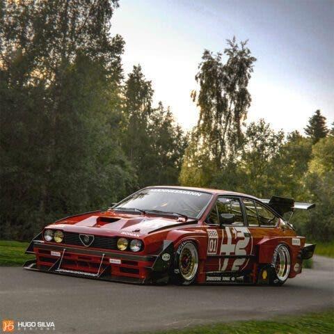 Alfa Romeo GTV6 Hugo Silva render
