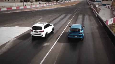 Alfa Romeo Stelvio Quadrifoglio vs Jeep Grand Cherokee Trackhawk Car Magazine