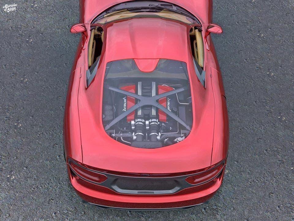 Dodge Viper motore centrale render