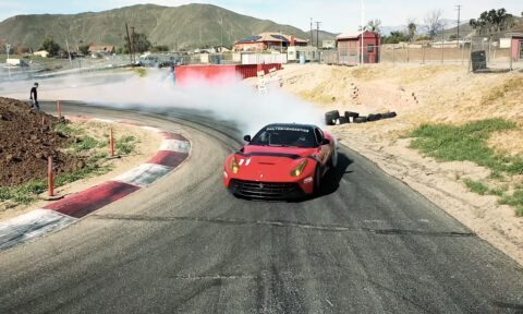 Ferrari F12berlinetta drift