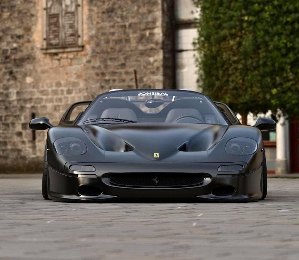 Ferrari F50 nera modificata render