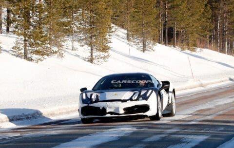 Ferrari protoipo ibrido foto spia
