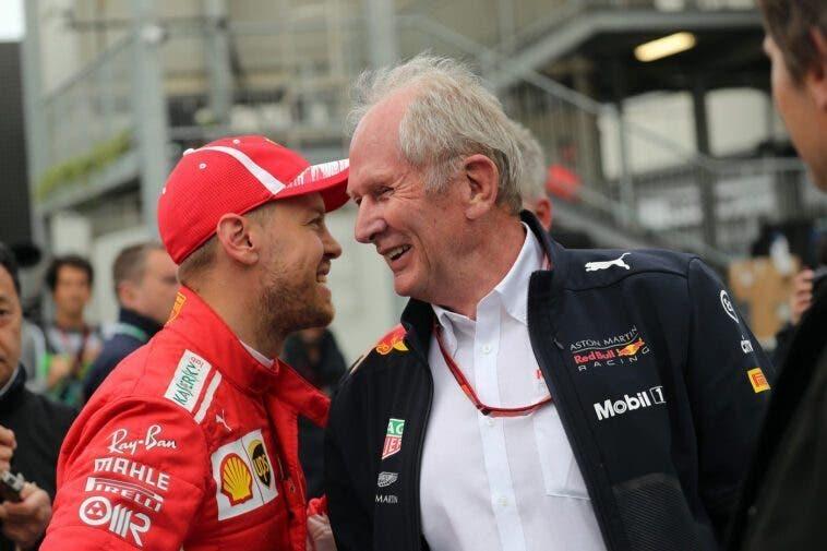 Helmut Marko e Sebastian Vettel