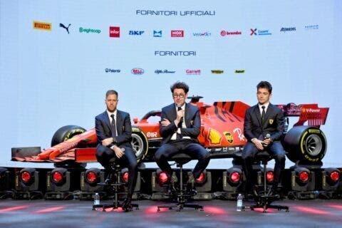 Vettel Leclerc e Binotto