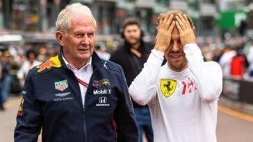 Sebastian Vettel con Helmut Marko