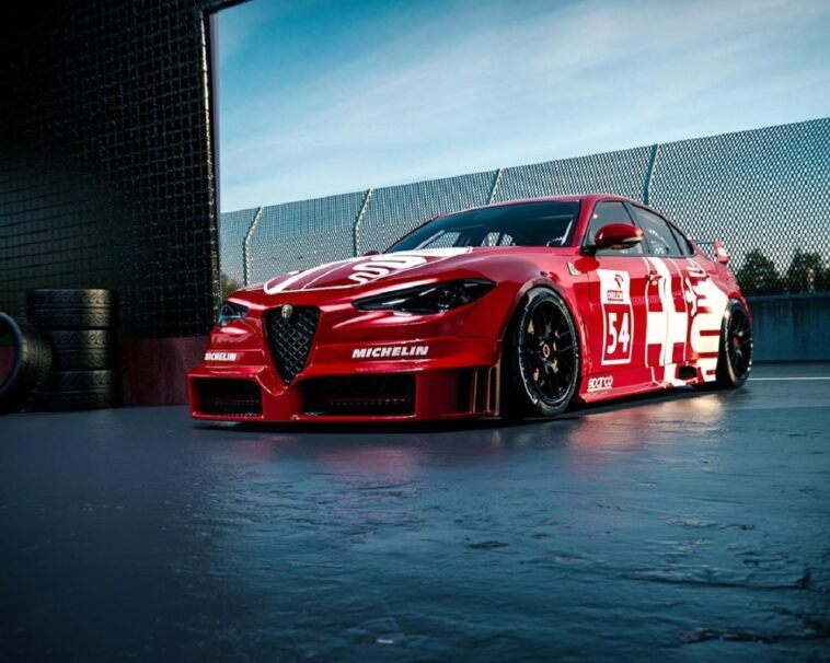 Alfa Romeo Giulia DTM render