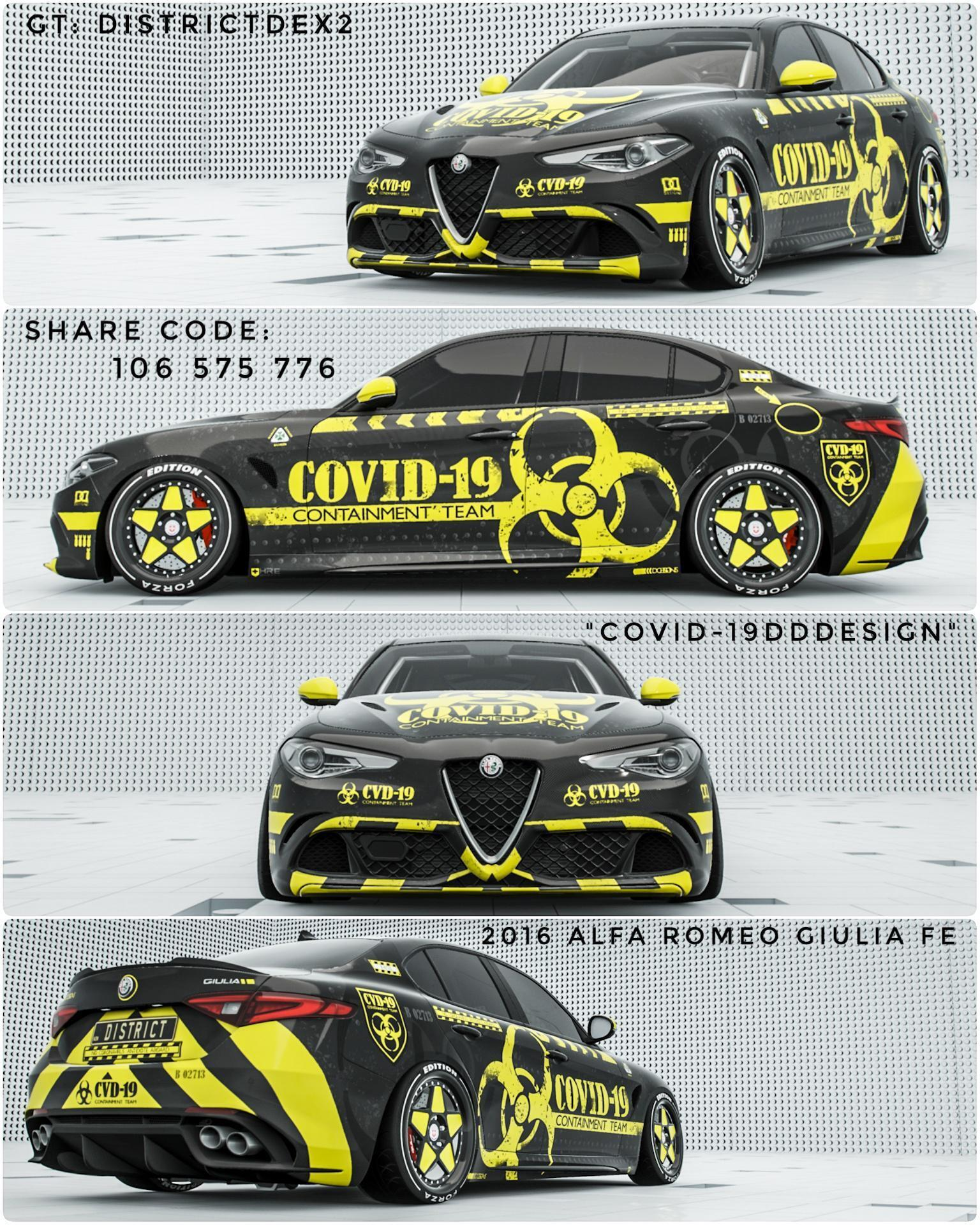 Alfa Romeo Giulia Forza Edition COVID-19