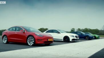 Alfa Romeo Giulia Quadrifoglio - Tesla Model 3 - Bmw M3 - Mercedes-AMG C 63 S