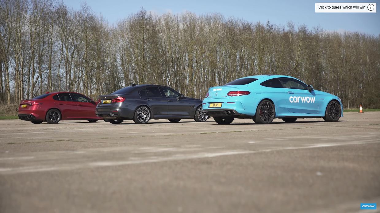 Alfa Romeo Giulia Quadrifoglio vs BMW M3 vs Mercedes-AMG C 63 Carwow