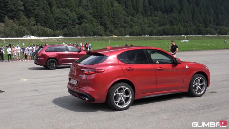 Alfa Romeo Stelvio Quadrifoglio vs Jeep Grand Cherokee Trackhawk Gumbal